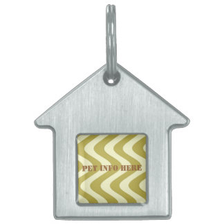 Wobbly Waves (Yellow/Yellow) Pet Tag