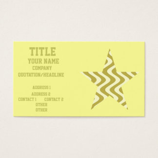 Wobbly Waves (Yellow/Yellow) Star Business Card