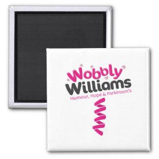 WobblyWilliams Merchandise 2 Inch Square Magnet
