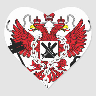 WOD Coat Of Arms Heart Sticker