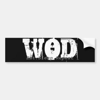 WOD.Eat.Sleep.Repeat Bumper Bumper Sticker