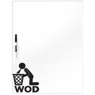 WOD Fitness Workout - Puke Dry Erase Whiteboards