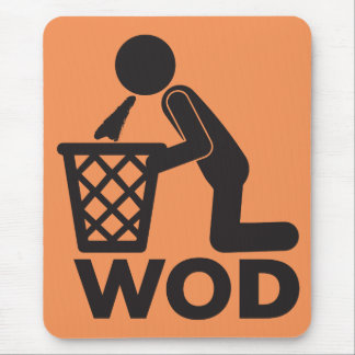 WOD Fitness Workout - Puke Mouse Pad