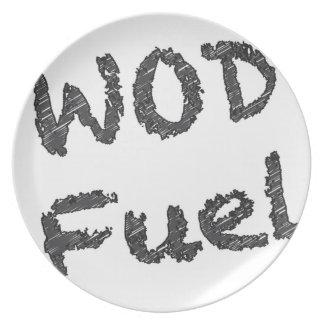 WOD Fuel - Black and Grey Writing Melamine Plate