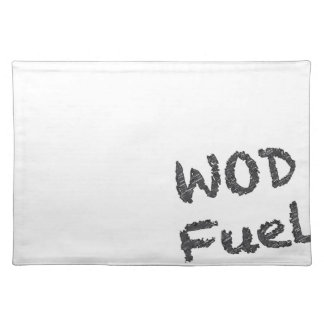 WOD Fuel - Black Writing Cloth Placemat