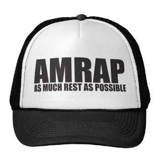 WOD Humor AMRAP As Much Rest As Possible Trucker Hat
