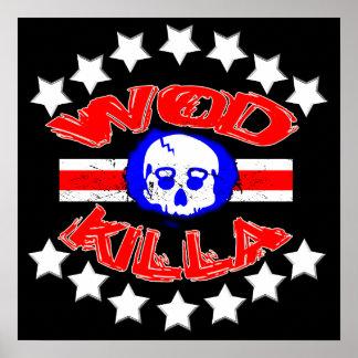 WOD Killa - poster del cráneo de la caldera del pr