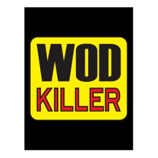 WOD Killer - Workout And Weight Lifting Postcard