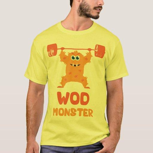 WOD Monster (Cute Barbell Snatch Monster) T-Shirt