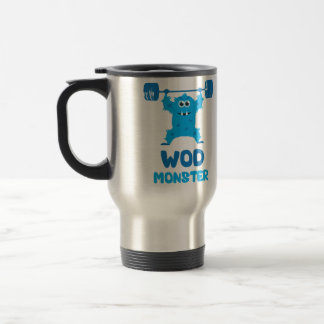 WOD Monster (Cute CrossFit Barbell Snatch Monster) Mugs