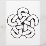 wodcut style quintuple knot