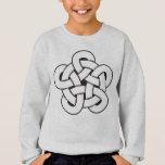 wodcut style quintuple knot sweatshirt
