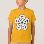 wodcut style quintuple knot T-Shirt