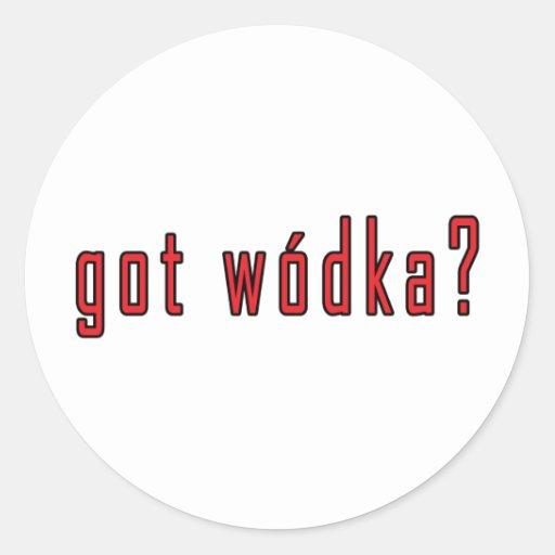 ¿wodka conseguido? pegatina redonda