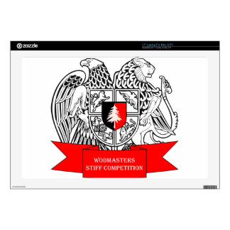 WODMasters Stiff Competition Coat of Arms Laptop Decal