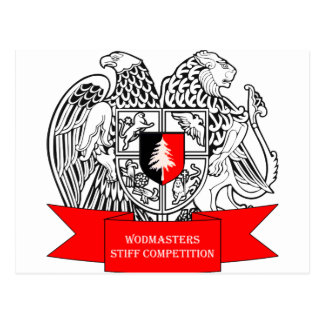 WODMasters Stiff Competition Coat of Arms Postcard