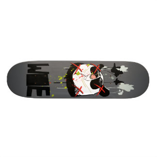 "Woebots ""Panda X"" Skate Board Deck"