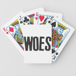 Woes Bicycle Playing Cards