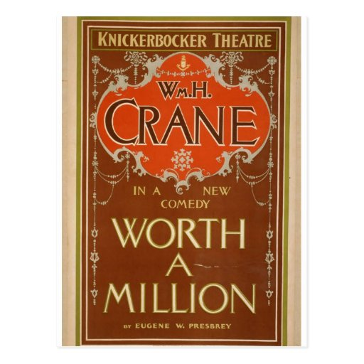 """Woeth millón, teatro retro de """"WmH.Crane"""" Postales"""