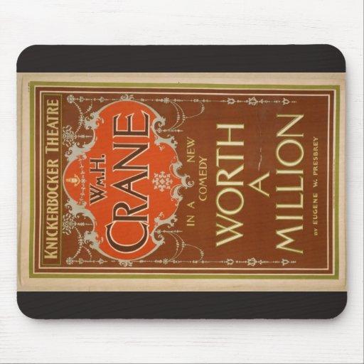 """Woeth millón, teatro retro de """"WmH.Crane"""" Tapete De Ratones"""
