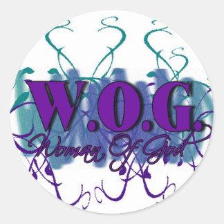 WOG- Woman of God Classic Round Sticker