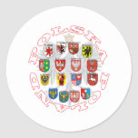 Wojewodztwa Polski Classic Round Sticker