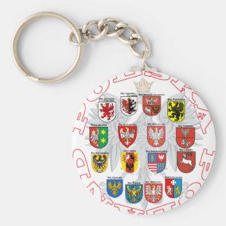 Wojewodztwa Polski Keychain