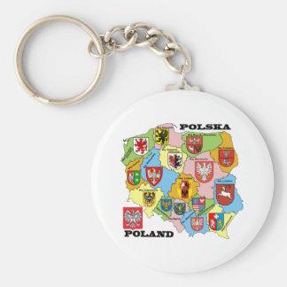 Wojewodztwa Polski_mapa Keychain