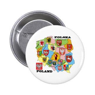 Wojewodztwa Polski_mapa Pinback Button