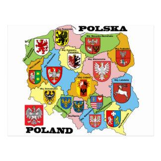 Wojewodztwa Polski_mapa Tarjetas Postales