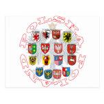 Wojewodztwa Polski Postcard