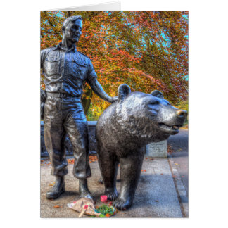 Wojtek The Soldier Bear Memorial Edinburgh Card