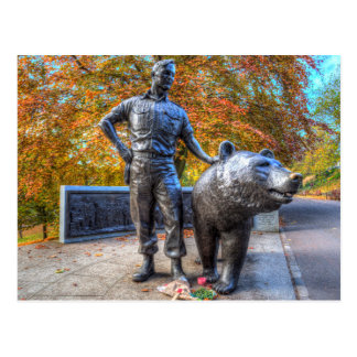 Wojtek The Soldier Bear Memorial Edinburgh Postcard