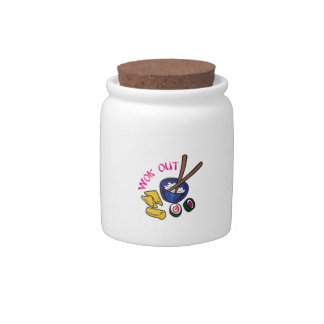 WOK OUT CANDY JARS