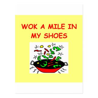 wok postcard