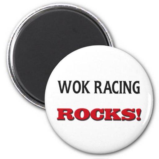 Wok Racing Rocks Fridge Magnets