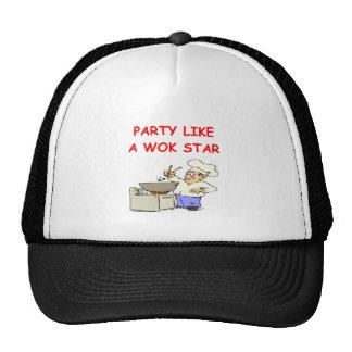 wok star mesh hats