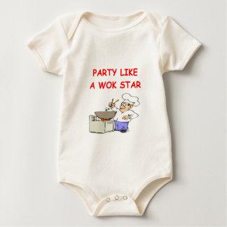 wok star baby bodysuit