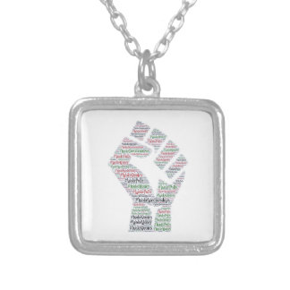 #WokeWednesdays Silver Plated Necklace