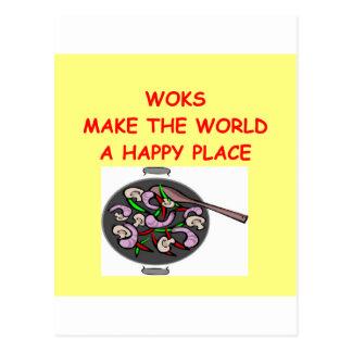 woks postcard