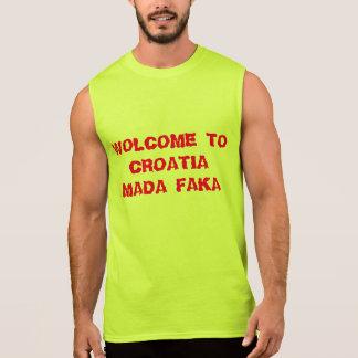 WOLCOME TO CROATIA SLEEVELESS SHIRT