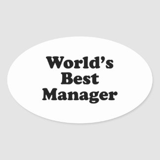 Wold's Best Manager Oval Sticker