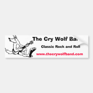 wolf11, The Cry Wolf Band, Classic Rock and Rol... Car Bumper Sticker