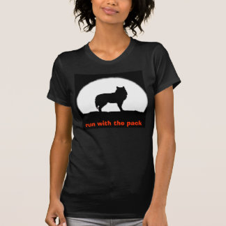 wolf1, run with the pack tshirt