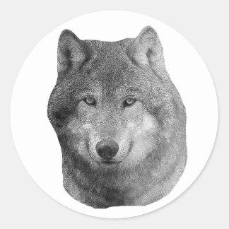 Wolf2 - Stylized Image Classic Round Sticker