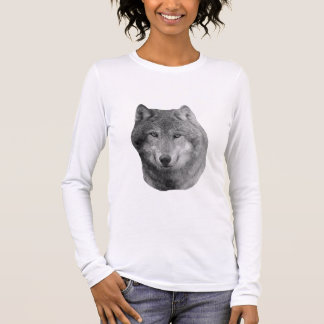 Wolf2 - Stylized Image Long Sleeve T-Shirt