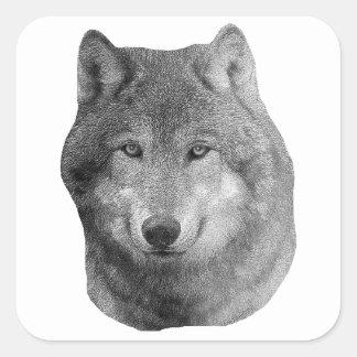 Wolf2 - Stylized Image Square Sticker