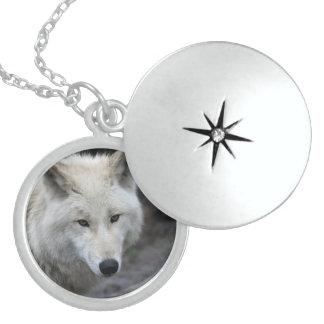 Wolf_015 Locket Necklace
