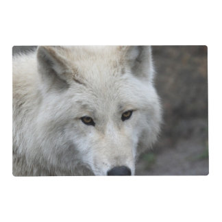 Wolf 015 laminated placemat