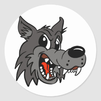 Wolf-02 Pegatina Redonda
